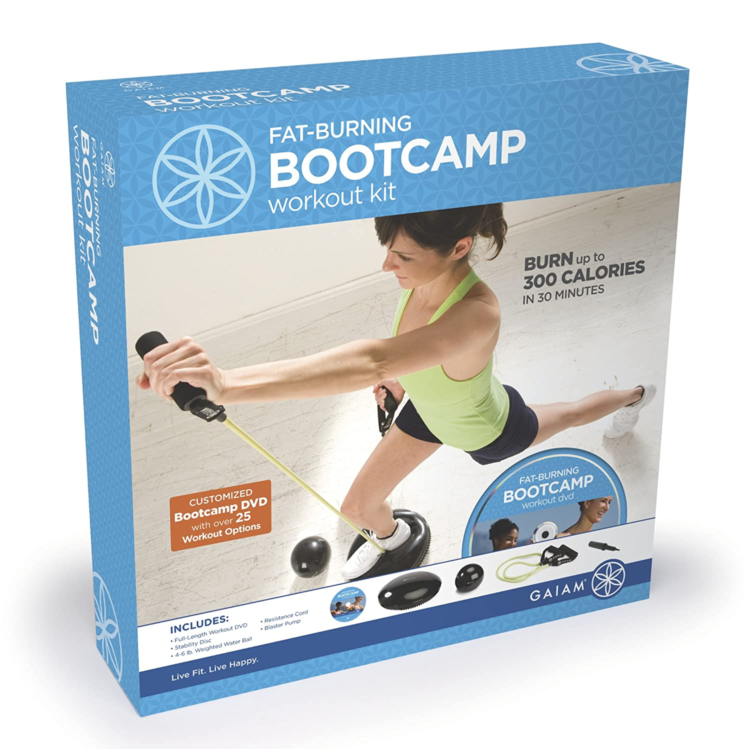 gaiam fat burning boot camp kit exercise and