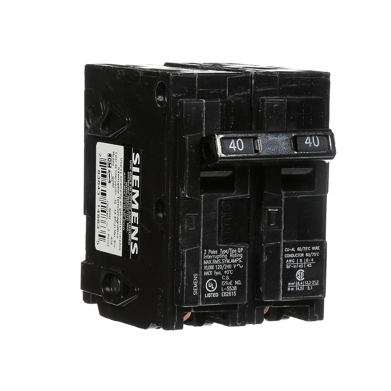 Q240 40 Amp Double Pole Type Qp Circuit Breaker Small