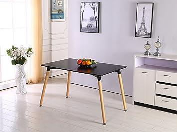 PN HomewaresR Halo Rectangular Dining Table Contemporary Design Modern Solid Wooden Legs