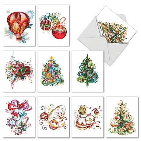 amazon com m6734xsb christmas quilling 10 assorted blank