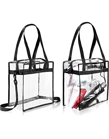 BAGAIL Clear Bag NFL & PGA Stadium Approved - The Clear Tote Bag with Zipper Closure