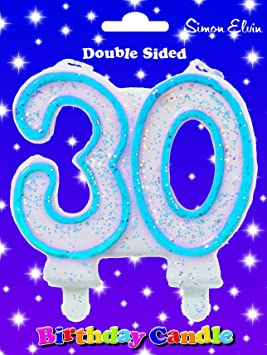 number 30 birthday candle uk