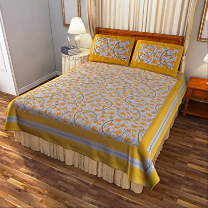 Cinch Store King Size Bedsheet ( 270 Cm * 225 Cm) With Pillow Covers (
