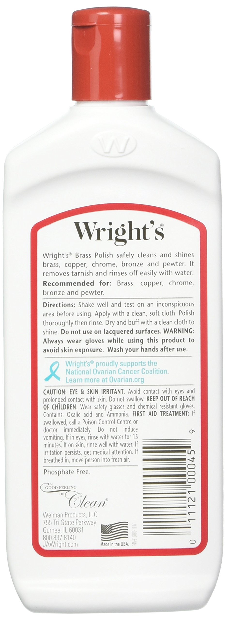 J A Wright Brass Polish Cleaner, 8 Ounce, 993188 -- 6 per case. by J A Wright (Image #2)