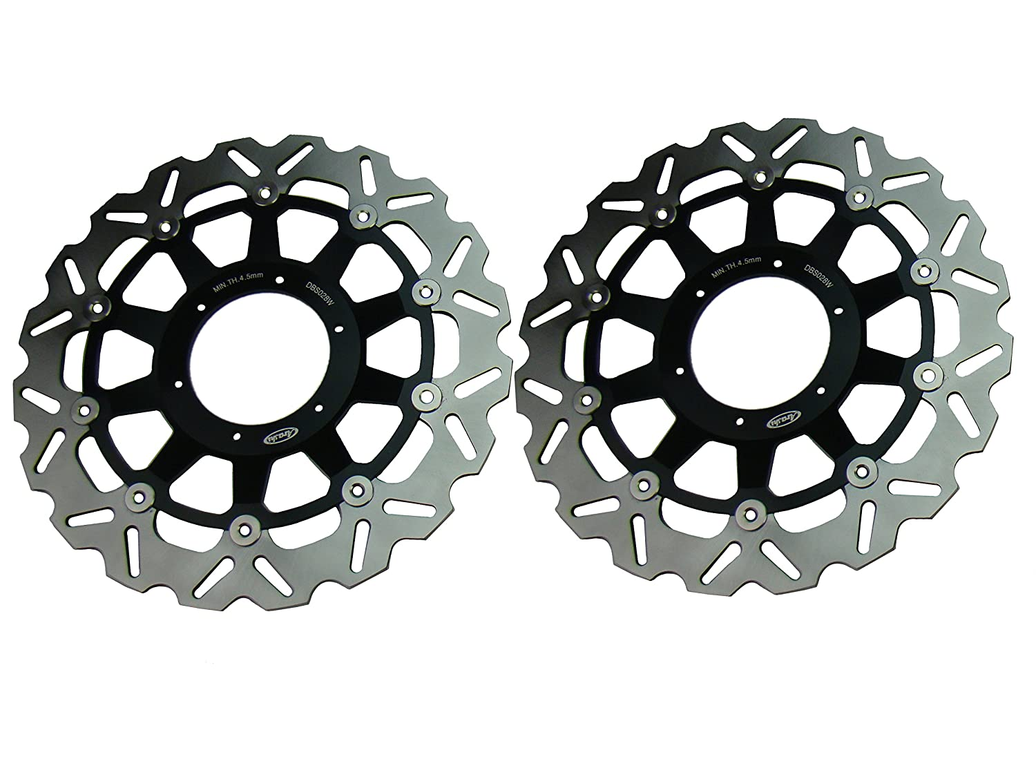 GZYF New Front Brake Disc Rotor Rotors Fit Honda CBR 600 F4i 2001-2006 Black