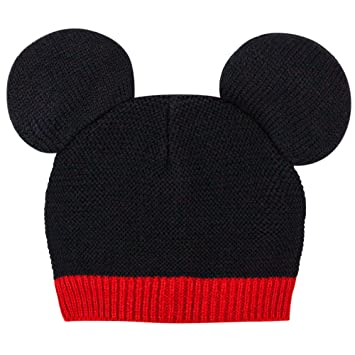 Amazon.com  Disney Baby Mickey Mouse Ears Knit Beanie Hat 0-12 Moths ... 1ef5d2776eb
