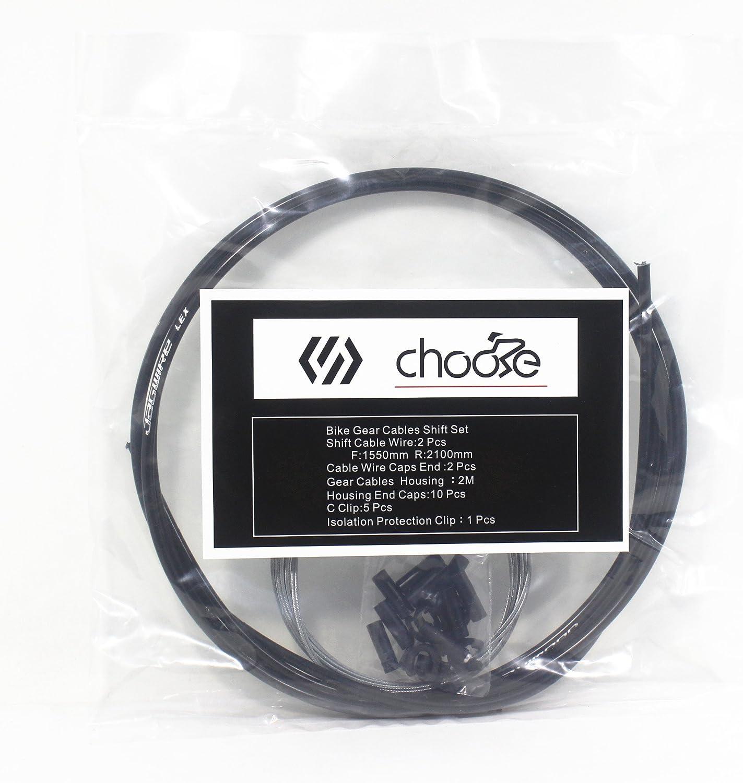 Chooee Bicicletas Cable y Funda de Cambio (Kit) para Bicicletas ...