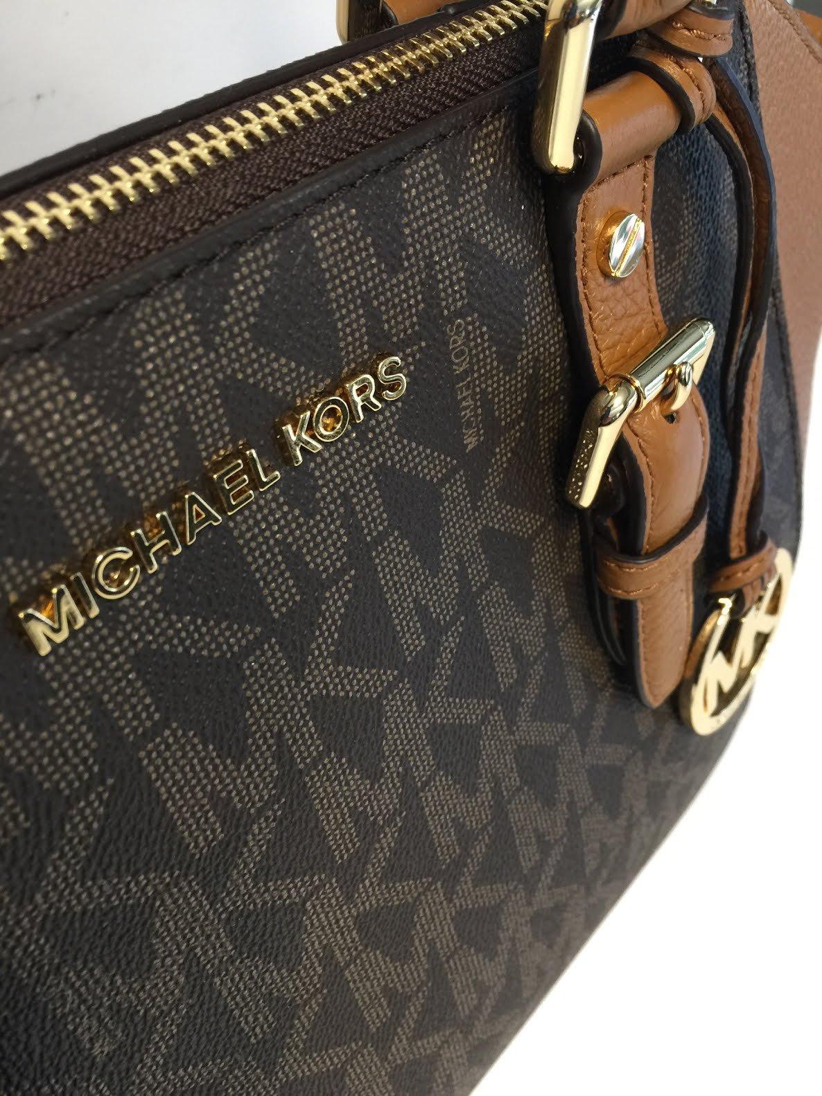 MICHAEL Michael Kors Ciara Large TZ Satchel bundled with Michael Kors Jet Set Travel Continental Wallet Wristlet (Signature MK Brown/Acorn) by Michael Kors (Image #4)