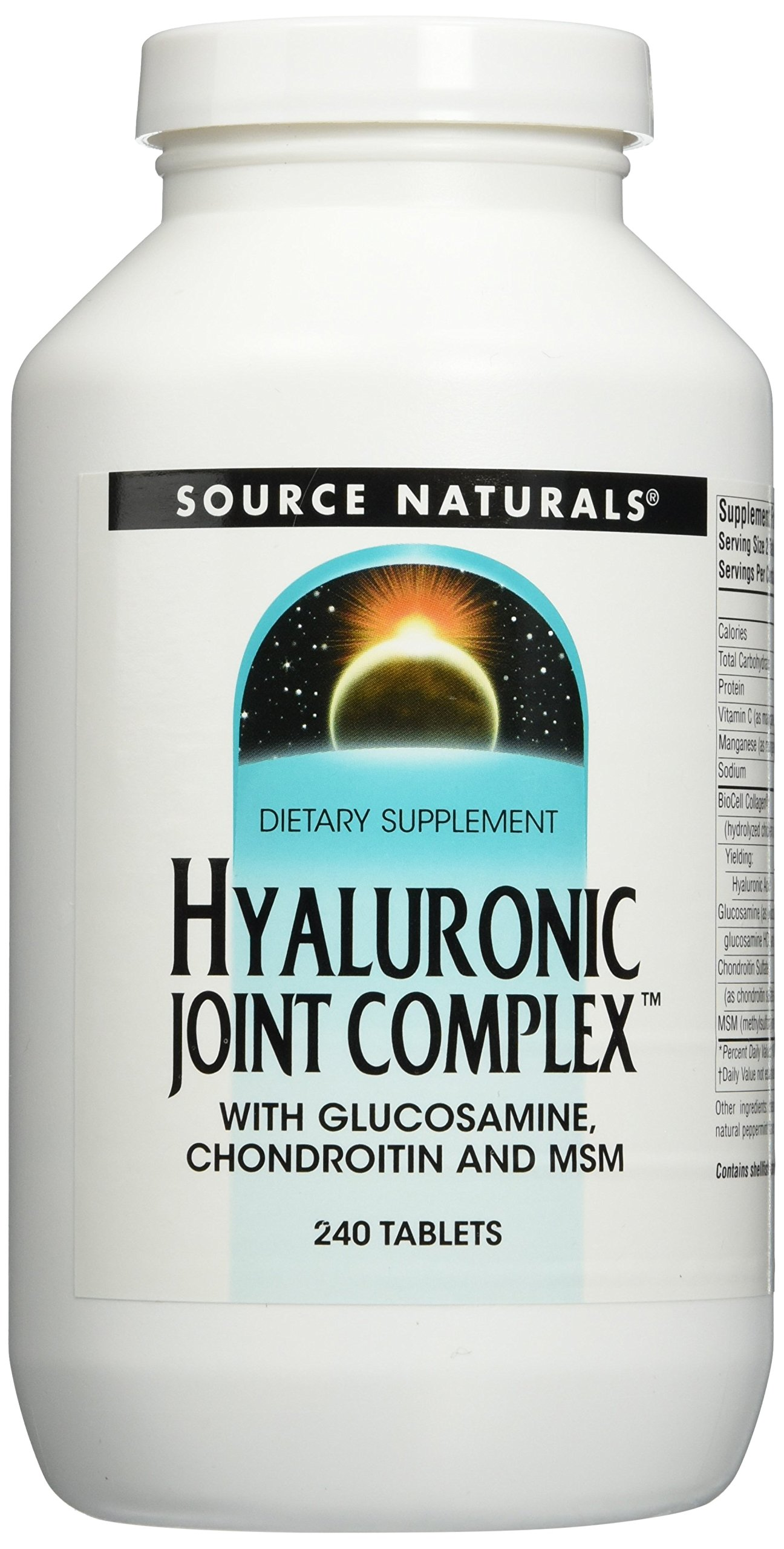 SOURCE NATURALS Hyaluronic Joint Complex Tablet, 240 Count