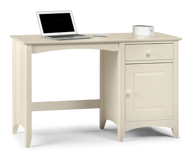 Julian Bowen Cameo Desk, Stone White JBW079