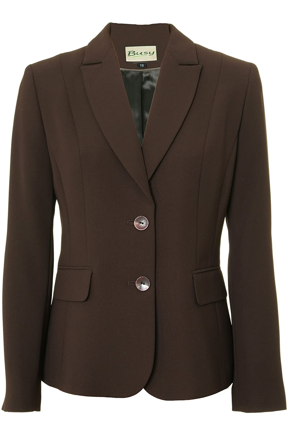 Busy Clothing Womens Brown Suit Jacket