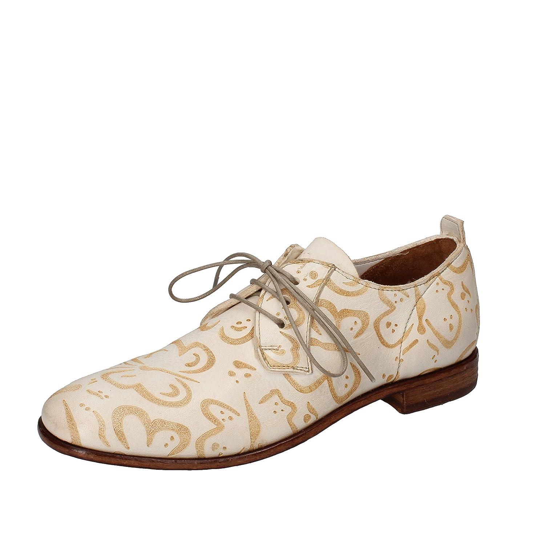 MOMA - Zapatos de cordones de Piel para mujer bianco / beige 37 EU