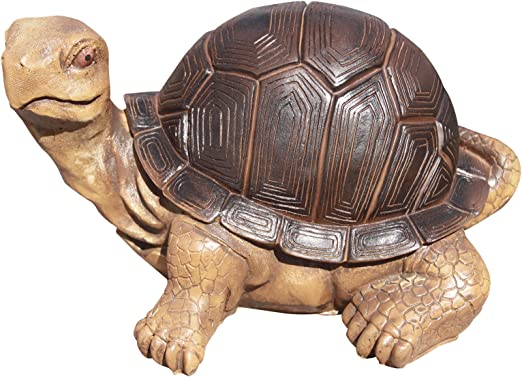 Tortuga de piedra artificial.Pintada a color. Ideal para decorar el jardín. 30CM LARGO. MOD. Color: Amazon.es: Jardín