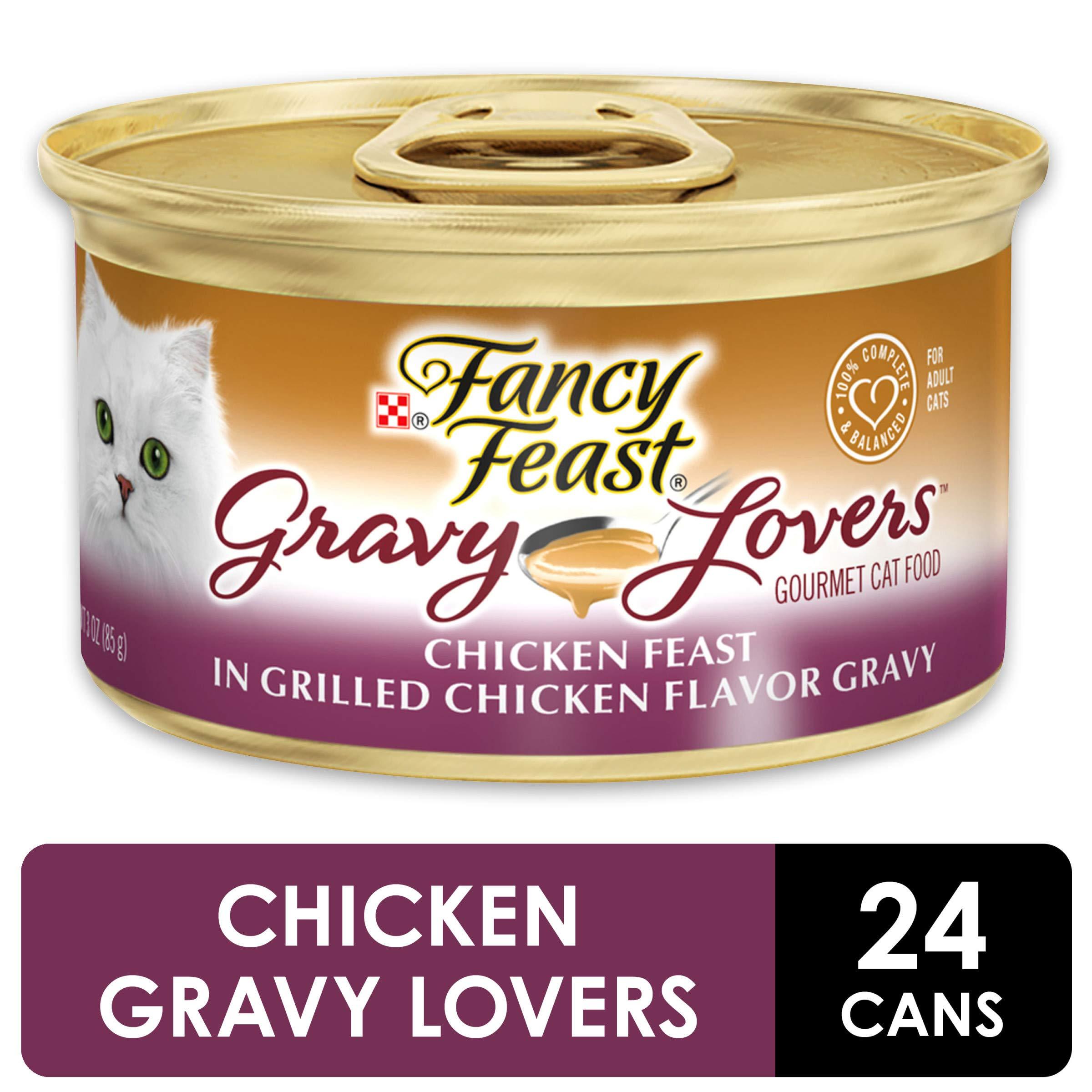 Purina Fancy Feast Gravy Wet Cat Food, Gravy Lovers Chicken Feast in Grilled Chicken Flavor Gravy - (24) 3 oz. Cans by Purina Fancy Feast