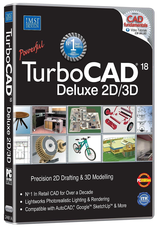Turbocad 18 Deluxe Pc Dvd Rom Amazon Software