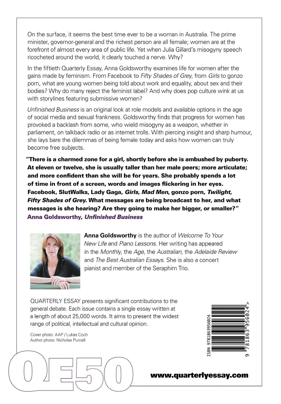 quarterly essay 50 unfinished business sex dom and misogyny quarterly essay 50 unfinished business sex dom and misogyny anna goldsworthy 9781863956024 com books