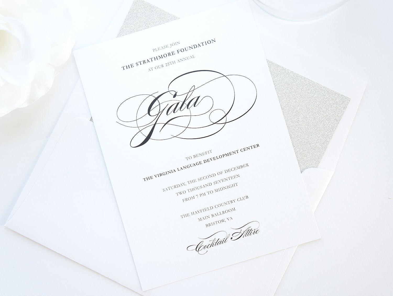 Amazon Com Elegant Corporate Invitations Gala Invitation Sample