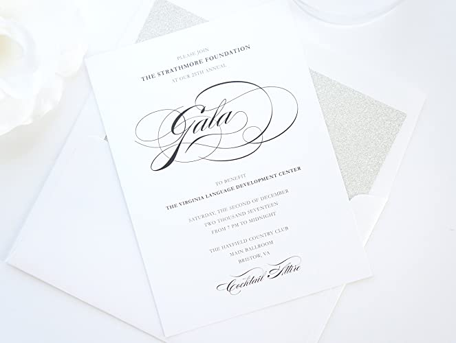 Amazon Elegant Corporate Invitations Gala Invitation