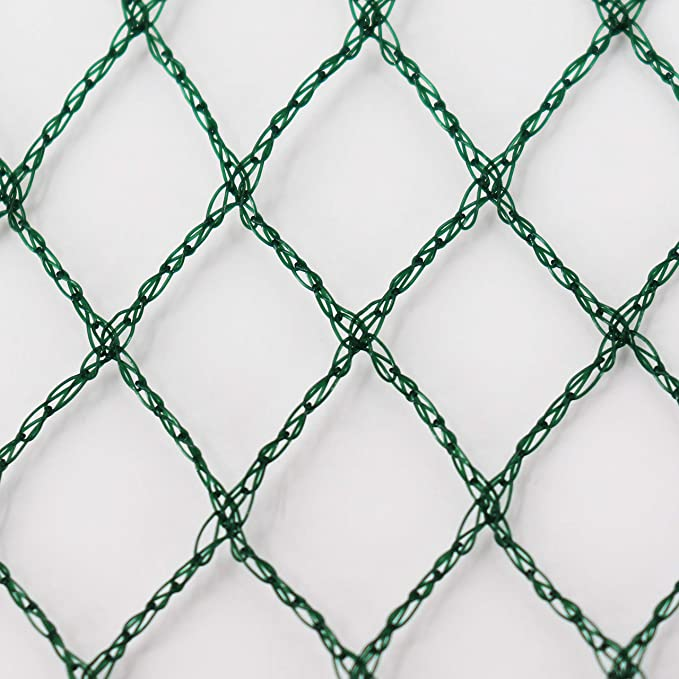 Teichabdecknetz Aquagart/® Teichnetz Vogelabwehrnetz Reihernetz robust 22m x 10m beonders engmaschig: Maschenweite 12mm x 12mm dunkelgr/ün Laubnetz
