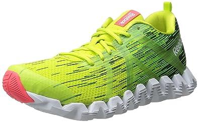 hot sale online 6dbf3 31062 Reebok Men s Zigtech Squared 2.0 Running Shoe, Semi Solar Yellow Solar  Green Deep