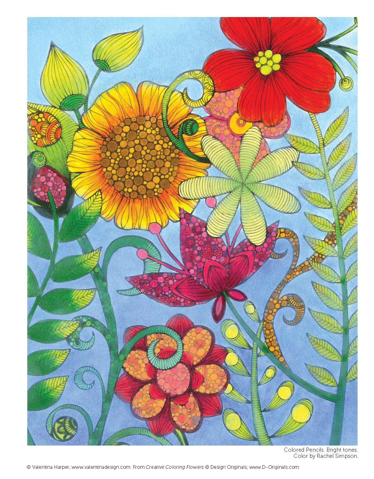 Creative Coloring Flowers: Amazon.de: Valentina Harper ...
