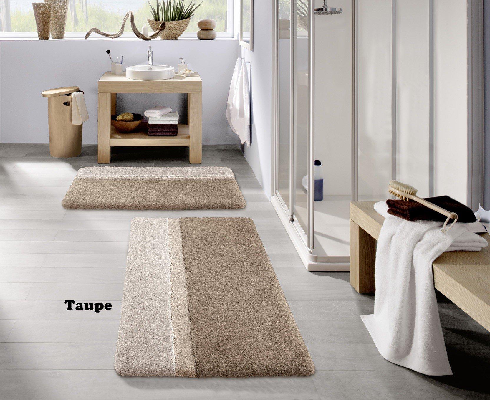 Kleine Wolke Eco Living Life Non Slip Cotton Bathroom Rug (27.6'' x 47.2'', Taupe) by Kleine Wolke