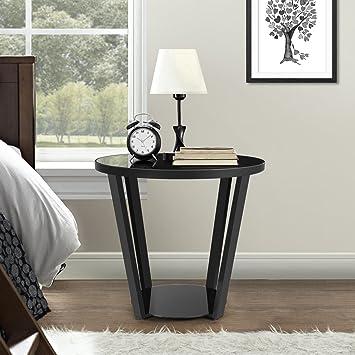 lifewit mesa redonda de caf mesa mesita de noche escritorio negro