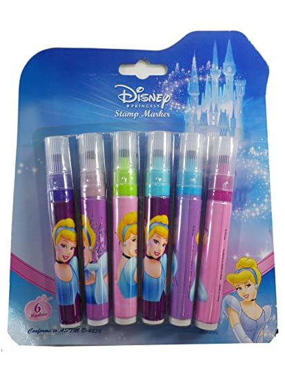 6 Pack Disney Princess Stamp Markers