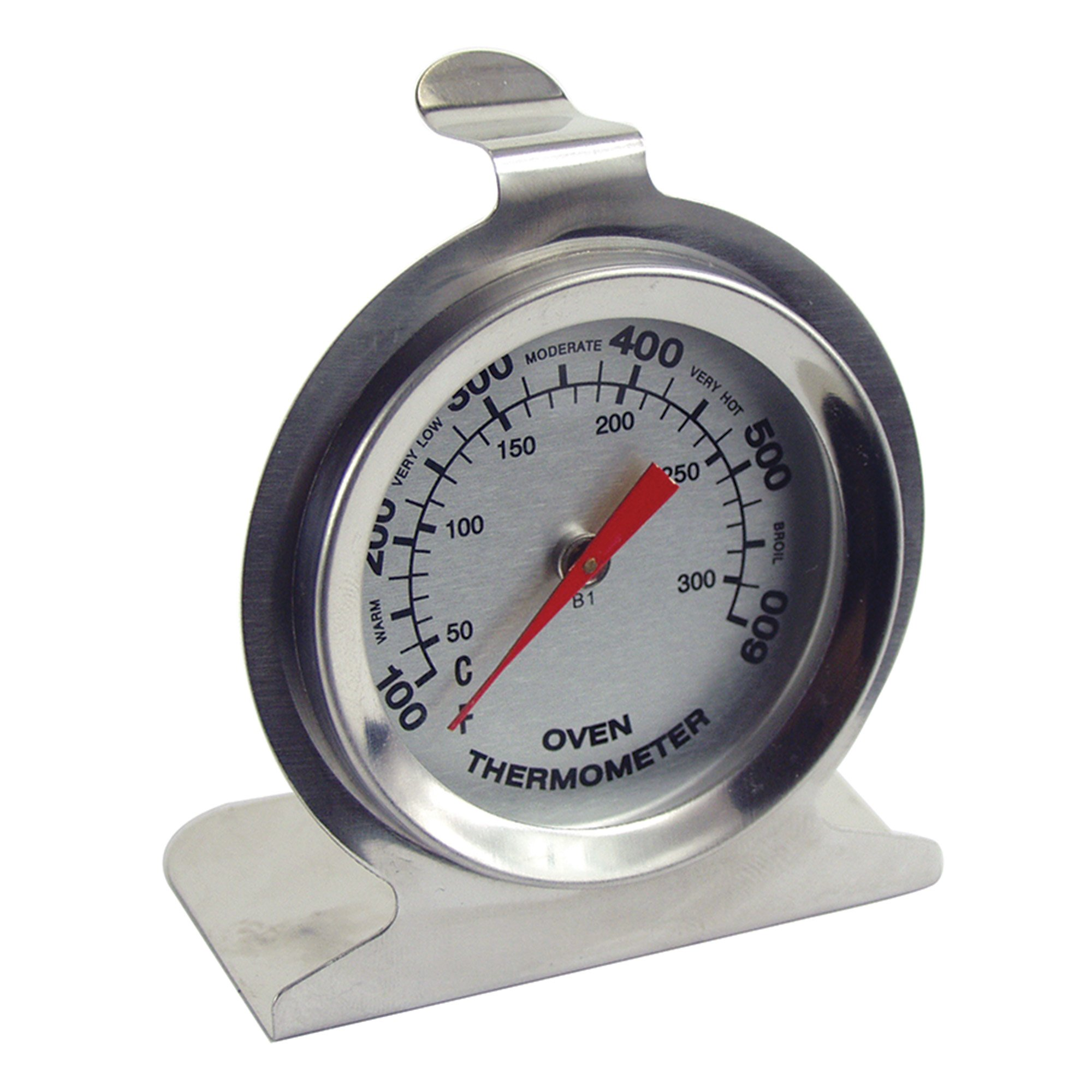 Fox Run 5670 Oven Thermometer, Commercial Stainless Steel, Large Dial