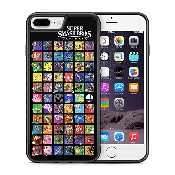 Characters Smash Bros Ultimate ModifiedCases Bumper Case Compatible with  iPhone 7 Plus/8 Plus