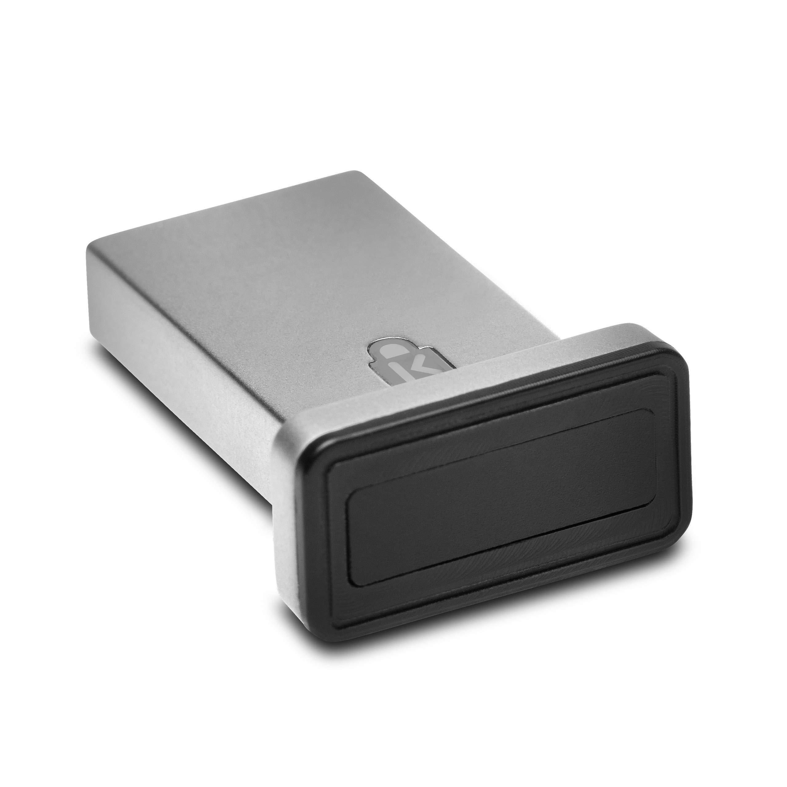 Kensington VeriMark IT USB Fingerprint Key Reader - Windows Hello, FIDO U2F, Anti-Spoofing (K67977WW) by Kensington