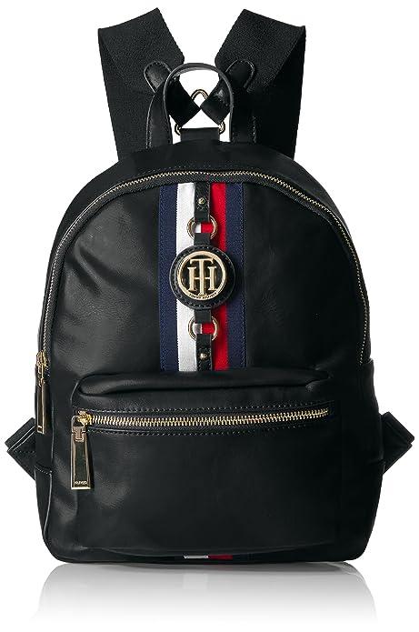 2477a553 Tommy Hilfiger Jaden Women Backpack, Black Polyvinyl Chloride ...