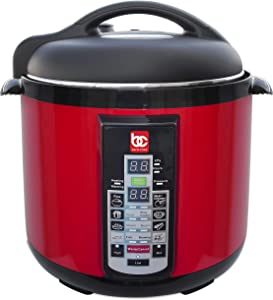 Bene Casa 900W 8L Electric Pressure Cooker Red, easy to use digital controls, multi-function pressure cooker, built in automatic cooking programs
