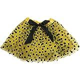 Rush Dance Ballerina Girls Dress-Up Princess Fairy Polka Dots & Ribbon Tutu (Kids (3-6 Years Old), Yellow & Black (Bee))