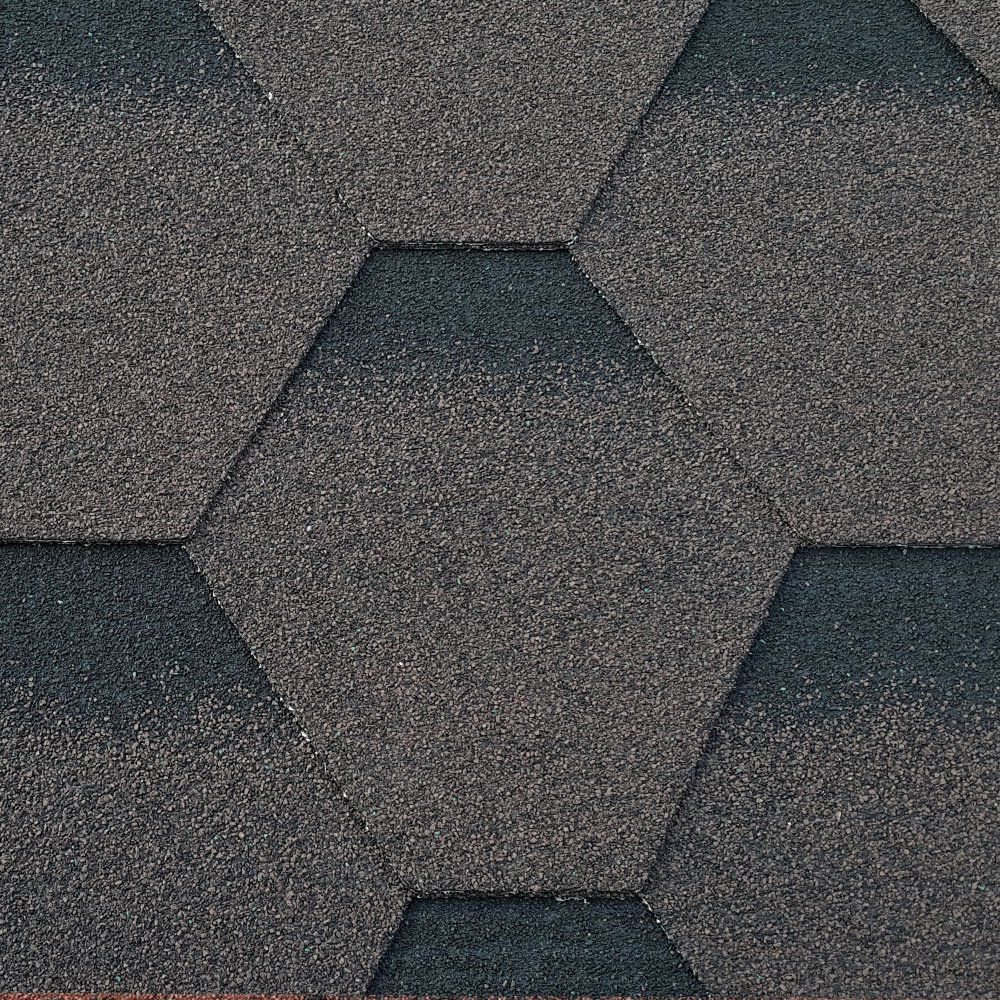 Roofing Felt Shingles | Shed Roof Felt Tiles | Free Adhesive | Hexagonal | 3 Tab | Midnight Black Ashbrook Roofing