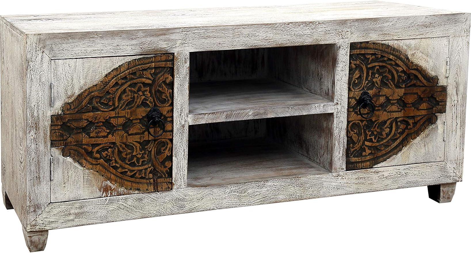 Marrakesch Aswa - Mueble bajo para televisor (150 cm, madera maciza), diseño oriental: Amazon.es: Juguetes y juegos