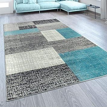Amazon.de: Paco Home Designer Wohnzimmer Teppich Modern Kurzflor ...
