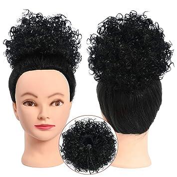 Amazon Com Armmu Afro Kinky Curly Hair Bun Wrap Drawstring High