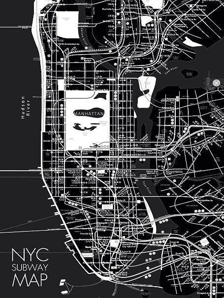 Floating Subway Map.Eurographics 60 X 80 Cm Nyc Subway Map I Deco Glass Amazon Co Uk
