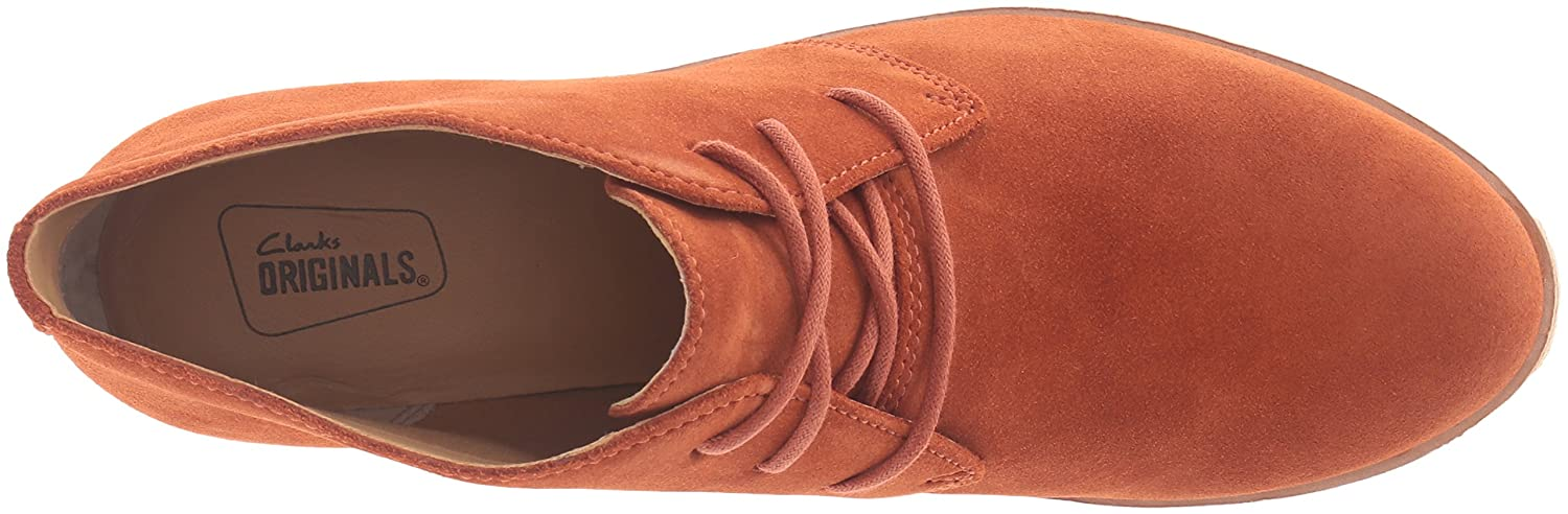 Clarks Women's Phenia Carnaby Boot Rust Vintage Suede 9.5 M US