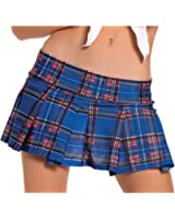 Sexy School Girl Mini Skirt Stretchy in Pleated Plaid