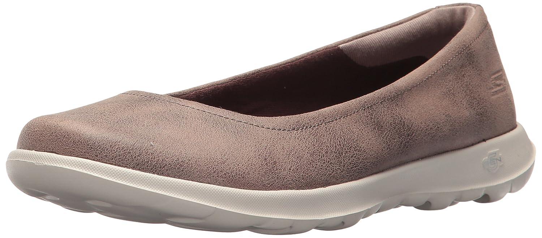 Skechers Women's Go Walk Lite-15395 Ballet Flat B071KGGYJR 5 B(M) US Brown