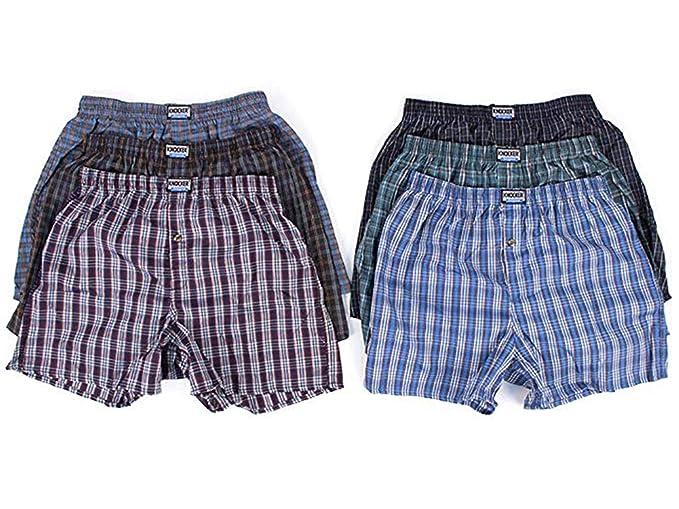 cadf3c57a34c Knocker 6 Men Plaid Boxer Shorts Underwear at Amazon Men's Clothing store: