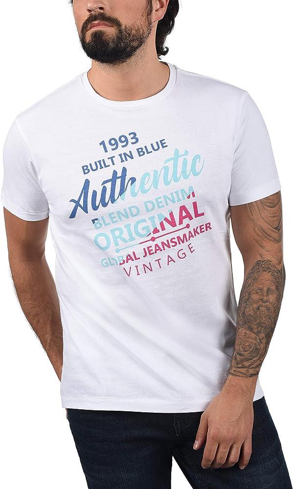 Blend 20709758 - Camiseta de manga corta para hombre Blanco (70002). S: Amazon.es: Ropa y accesorios