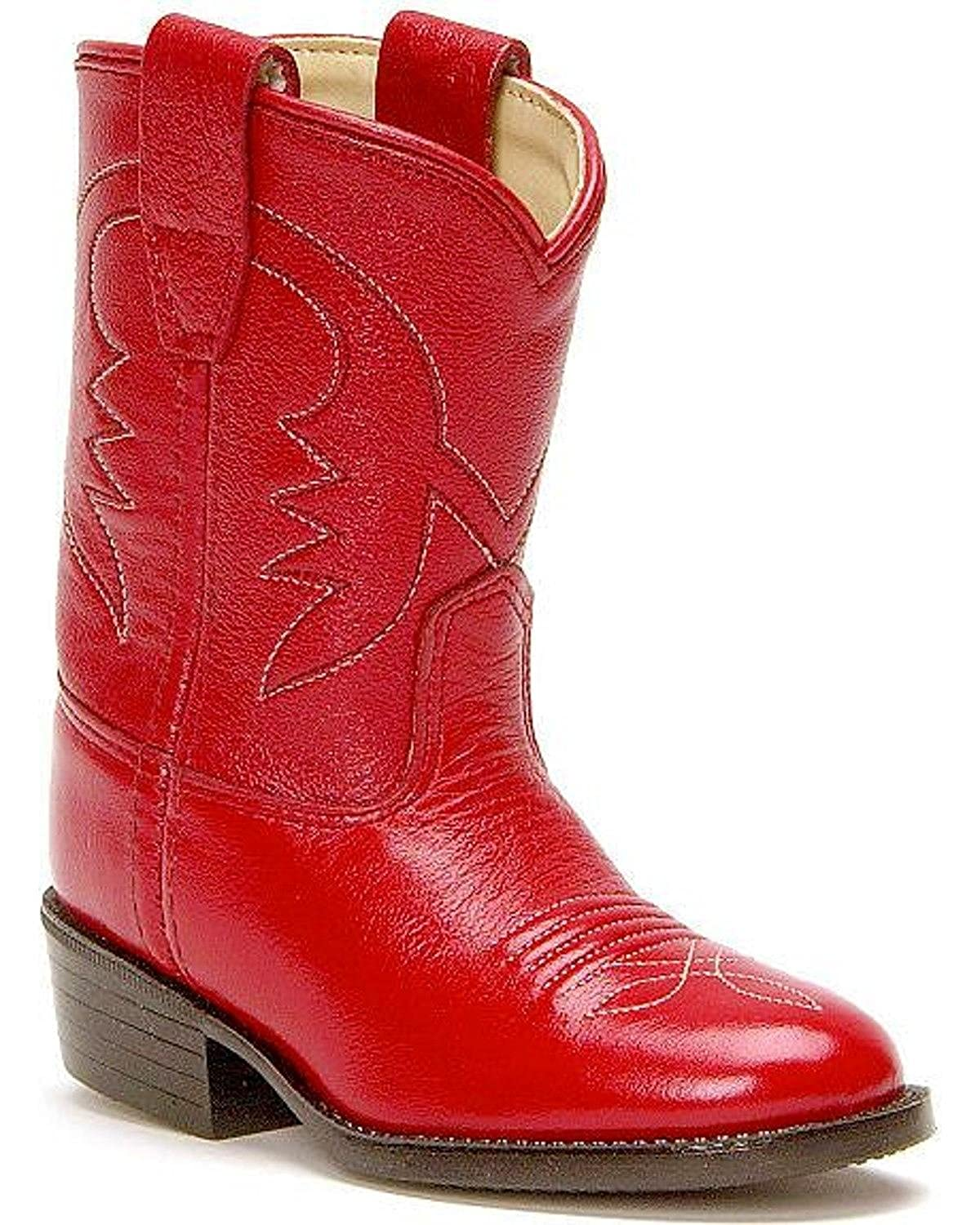 M Old West Toddler-Girls Cowboy Boot Red 8 D US 3116
