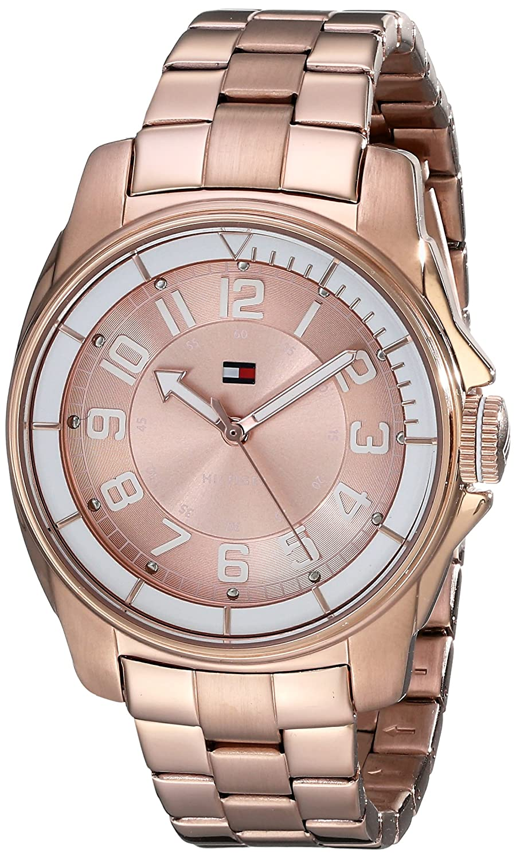 459429ff0 Amazon.com: Tommy Hilfiger Women's 1781230 Sport White Bezel Bracelet Watch:  Tommy Hilfiger: Watches