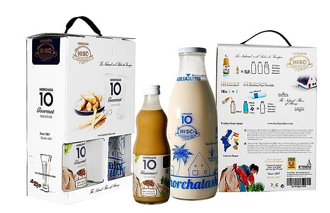 Pack Estuche: Horchata 10 Gourmet 500 ml (2,5 L) + Botella Medidora - Caja 3 uds