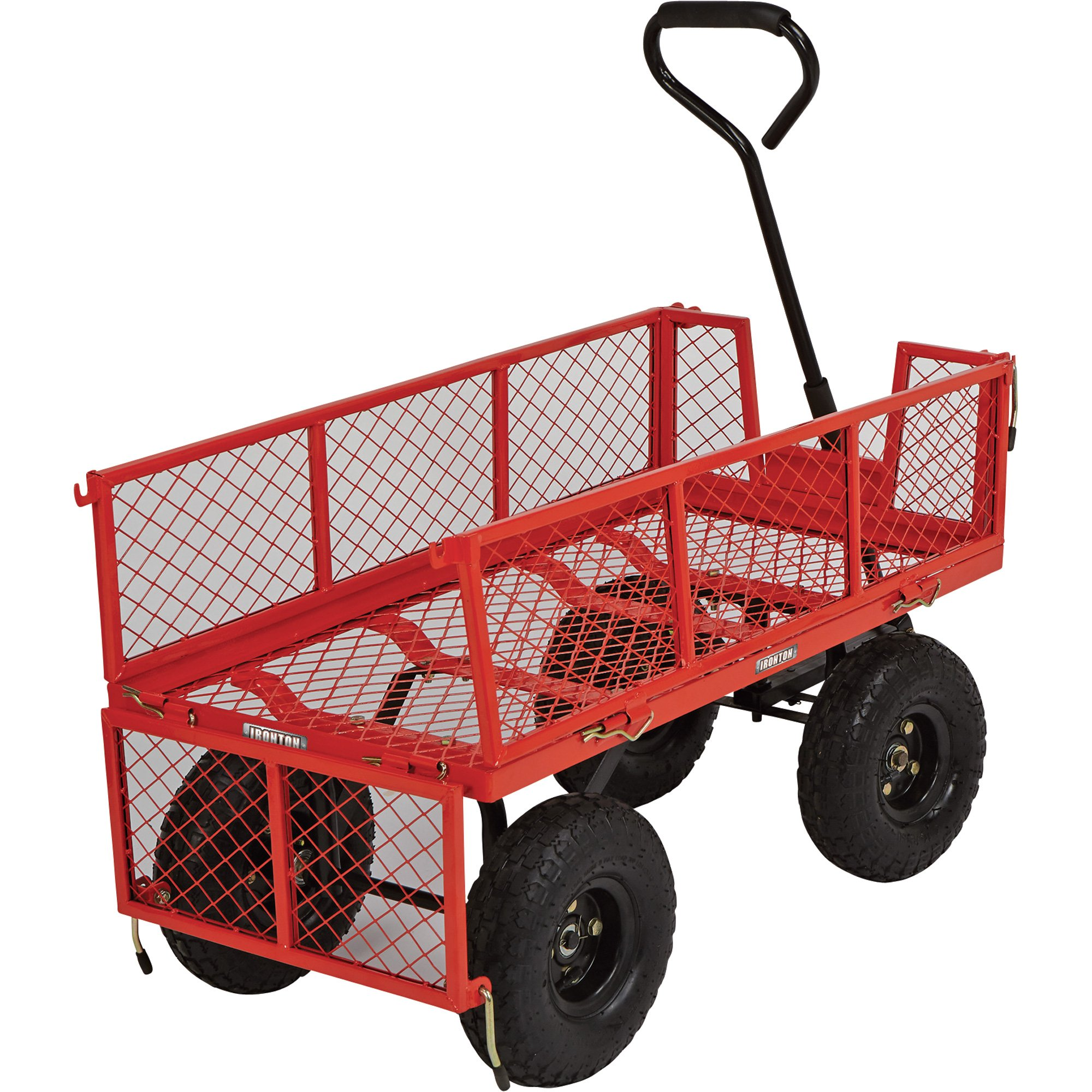 Steel Cart, 34in.L x 18in.W, 400-Lb. Capacity by Ironton (Image #3)