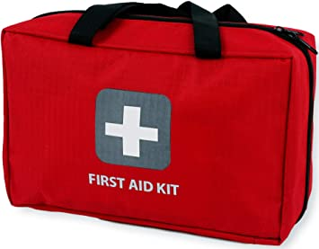 ed69d4db49b First Aid Kit - 291 Pieces - Bag. Packed with Hospital Grade Medical  Supplies for