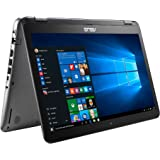 """ASUS 15.6"""" Premium Flagship Convertible 2-in-1 FHD LED Back-lit Touch Screen Notebook, Intel i5-6200U up to 2.8GHz, 6GB DDR4, 1TB HDD, USB 3.1, HD Webcam, Bluetooth, Windows 10"""